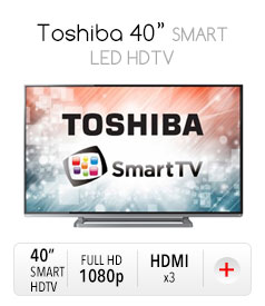 "Toshiba 40"" SMART LED HDTV"