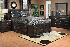 Yorkdale Queen 7 Piece Set in Dark Saddle Birch - Click for more details