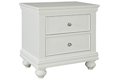 Bridgeport Nightstand in White  - Click for more details
