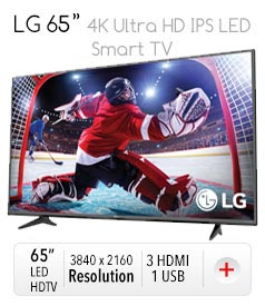 "LG 65"" 4K Ultra HD IPS LED Smart TV"