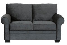 Danton Chenille Loveseat in Charcoal - Click for more details