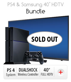 "Samsung 40"" HDTV & PS4 Bundle"