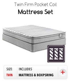 Twin Firm Pocket Coil Mattress Set