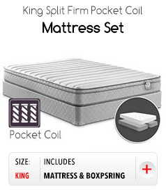 King split Firm Pocket Coil  Mattress Set