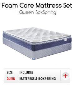 Foam Core Mattress Set - Queen