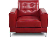Vista Leather-Like Fabric Chair in Red - Click for more details