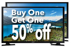 "BOGO 50% Samsung 32"" HD LED TV"