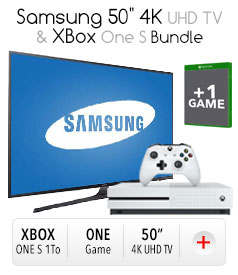 "Samsung 50"" 4K HDTV & XBox One S Bundle"