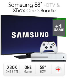 "Samsung 58"" & Xbox Bundle"