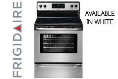 Frigidaire 5.3 Cu. Ft. Self-Cleaning Smooth-Top Range in Stainless Steel/ Black - Click for more details