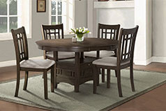 Bristol 5-Piece Dining Package in Brown - Click for more details