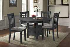 Bristol 5-Piece Dining Package in Black - Click for more details