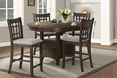Bristol 5-Piece Counter-Height Dining Package in Brown - Click for more details