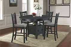 Bristol 5-Piece Counter-Height Dining Package in Black - Click for more details