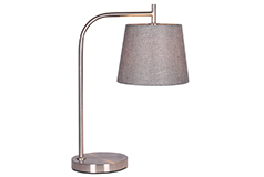 Krystin Brushed Steel Table Lamp  - Click for more details