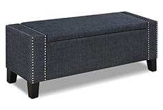 Sorrento Storage Ottoman in Grey Color Fabric - Click for more details