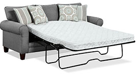 Tamy Fabric Queen-Size Sofa Bed in Steel Color Fabric - Click for more details