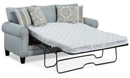Tamy Fabric Queen-Size Sofa Bed in Mist Color Fabric