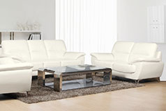 Ernestine Leather-Look Set  Sofa, Loveseat Snow - Click for more details