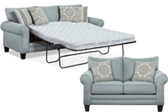 Tamy Living Room Set Includes: Sofa-Bed & Loveseat Fabric in Mist - Click for more details