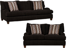 Alexa Living Room Set  Includes: Sofa & Loveseat  in Chocolate Chenille - Click for more details