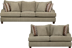 Alexa Living Room Set  Includes: Sofa & Loveseat  in Beige Chenille - Click for more details