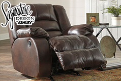 Levelland  Rocker Recliner Chair  in Genuine Leather   by Ashley - Click for more details