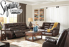 Levelland Recliner Living Room Set Includes: Sofa Loveseat & Chair in Genuine Leather by Ashley - Click for more details