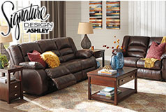 Levelland Recliner  Living Room Set  Includes: Sofa & Loveseat  in Genuine Leather by Ashley  - Click for more details