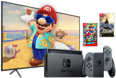 "Samsung 58"" 4K Smart TV & Nintendo Switch Super Mario Bundle"