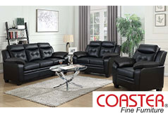 Finley Living Room Set  Includes: Sofa, Loveseat & Chair  Leatherette by Coaster - Click for more details