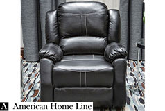 Lorraine Bel-Aire Deluxe Reclining Club Chair in Ebony - Click for more details
