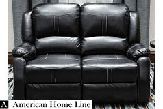 Lorraine Bel-Aire Deluxe Reclining Loveseat in Ebony - Click for more details