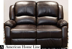 Lorraine Bel-Aire Deluxe Reclining Loveseat  in Mocha - Click for more details
