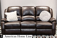 Lorraine Bel-Aire Deluxe Reclining Sofa in Mocha - Click for more details