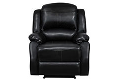 Lorraine Recliner Chair in Ebony Bonded Leather - Click for more details