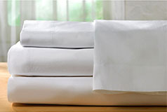 Spirit Premium King Bamboo Bed sheets in White - Click for more details