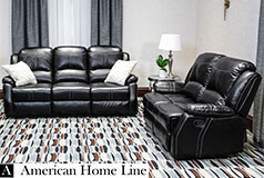 Lorraine Bel-Aire Reclining 2Pc Set S/L in Ebony