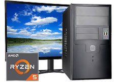 "MDG Vision R5 2400G (27""/Ryzen™ 5 2400G/8GB RAM/480GB SSD+1TB HDD/Win 10) - Click for more details"