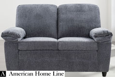 London Luxury Edition  Loveseat in grey chenille - Click for more details