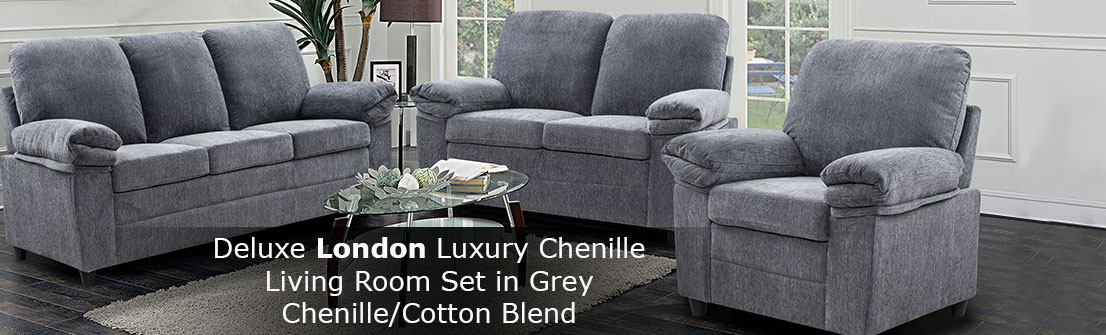 London Grey Sofa Set - SLC – Luxury Edition