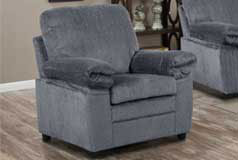 London Chair  in Grey Chenille<br /> - Click for more details