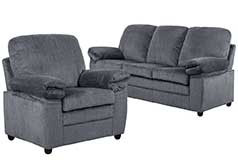 London Living Room Set  In grey chenille  Includes: Sofa & Chair <br /> - Click for more details