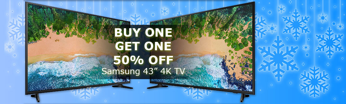 "Samsung 43"" NU6900 Smart 4K TV - BOGO 50% OFF"