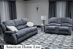 Crawford Luxury Recliner Set in Grey  Includes: Sofa, Loveseat - Click for more details