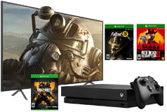 "Samsung 58""  4K UHD LED Smart TV NU7100 2018 Model & Xbox One X 1TB Bundle - Click for more details"