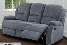 Crawford Recliner Sofa in Grey - Click for more details
