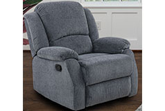 Crawford Recliner Chair in Grey - Click for more details