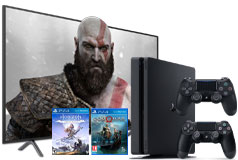 "Samsung 58"" 4K LED TV NU7100 & PlayStation 4 Slim Bundle  - Click for more details"