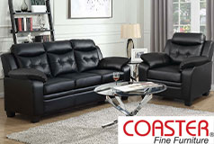 Finley Living Room Set Includes: Sofa, Chair Leatherette by Coaster - Click for more details